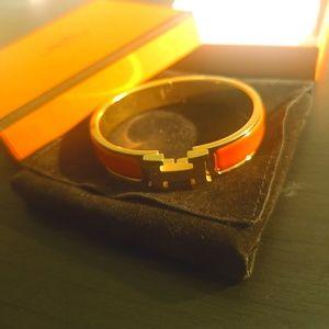 Hermes H Clic Clac Orange Bracelet